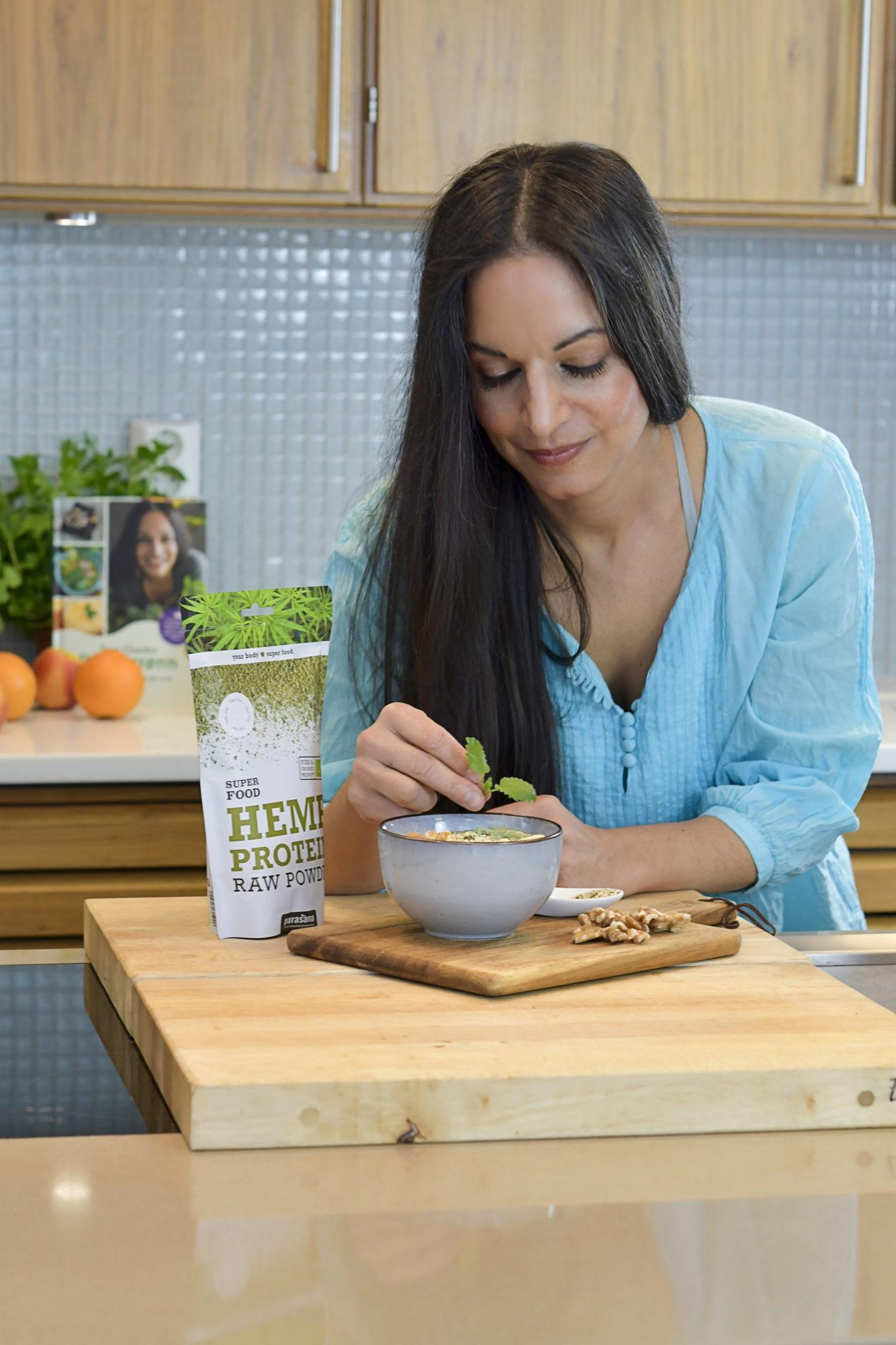 Mettende Og Nærende Dønn Grønn Protein Smoothie Bowl