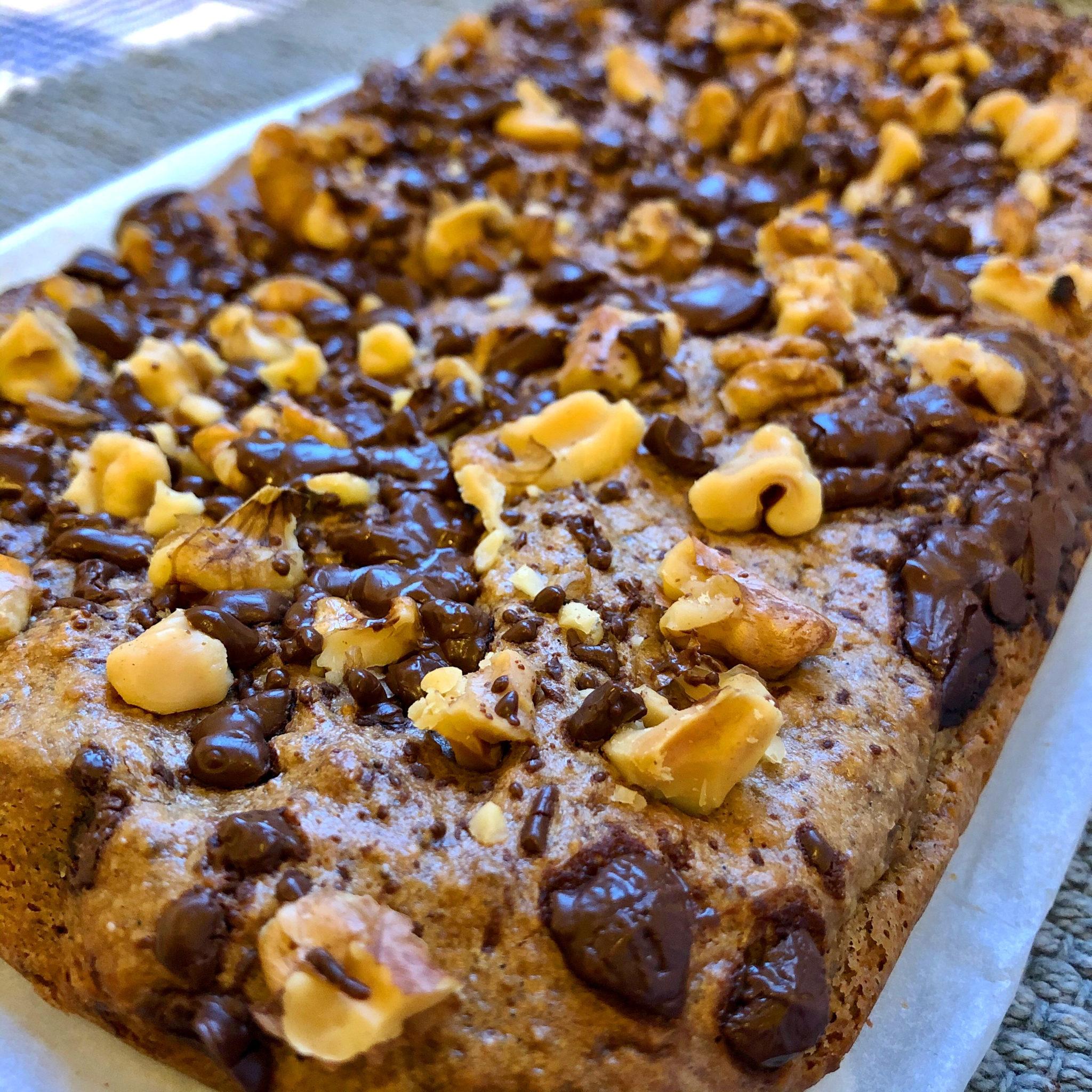 Glutenfri Og  Plantebasert Chocolate Almond Cookie Cake
